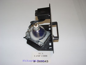 RCA 269343 Replacement Projection LCD Lamp (original Philips Lamp)