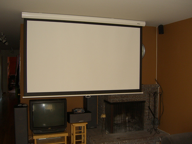 Solving problems with projector image