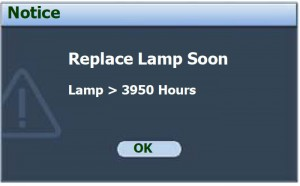 BenQ MP612/MP12c second lamp warning, BenQ 5J.06001.001