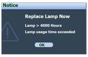 BenQ MP612/MP12c third lamp warning, BenQ 5J.06001.001