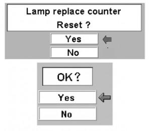 Sanyo PLC-XF45 lamp replace, Sanyo POA-LMP49 service parts no 610 300 0862