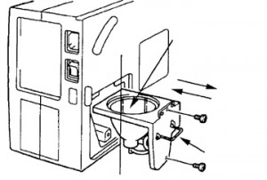 Sanyo PLC- 5600 Lamp CageSanyo POA-LMP14 (service parts no 610-265-8828)