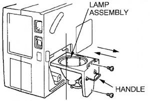 ASK Proxima DP-5900 lamp unit, ASK Proxima POA-LMP14