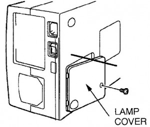 ASK Proxima DP-5900 lamp cover, ASK Proxima POA-LMP14