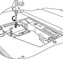 BenQ MP522 lamp screw removed, BenQ 9E.Y1301.001 lamp