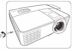 BENQ_Projector_DX818ST_Lamp_cover_screw_5J.J9A05.001