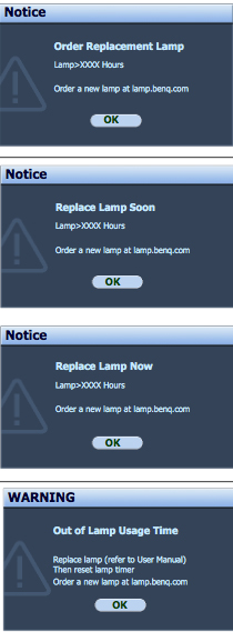 Benq_MX763_projector_lamp_warning_BenQ 5J.J4N05.00_UHP_lamp