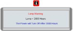 BenQ W100 projector, BenQ 5J.J1S01.001 warning Message-1