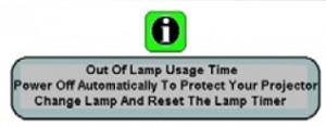 BenQ W100 projector, BenQ 5J.J1S01.001 warning Message-FINAL