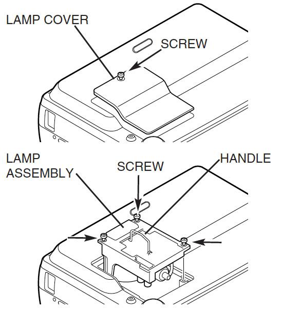 Canon-LV-5200_remove_projector_lamp_cover_Canon_LV-L16