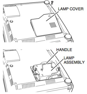 Canon_LV-S1_projector_Canon_7566A001_install_replacement_projector_lamp