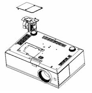 Dell_7609WU_Dell-_725-10127_replace_projector_lamp