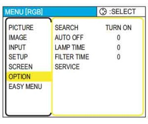 Dukane_ImagePro_8063_reset_projector_lamp_timer