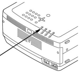 Eiki LC-X4L_Eiki_POA-LMP39_projector_lamp_remove_cover