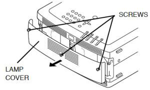 Eiki_SX4LA_Eiki_POA-LMP39_remove_projector_lamp