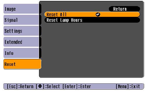 Epson-PowerLite-82c-reset=lamp-timer-Epson-ELPLP34-lamp