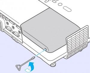 Epson-EMP-260-projector-lamp-screws-revmoed-Epson-ELPLP41-lamp