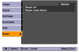 EB-S62/EB-X62-projector-reset-lamp-timer-Epson-ELPLP41-lamp