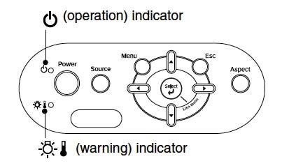 Epson-EMP-1000-warning-light-Epson-ELPLP39-lamp
