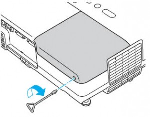 Epson-PowerLite-77C-cover-reinstalled-Epson-ELPLP41-lamp