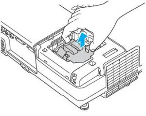 Epson-PowerLite-77C-lamp-removed-Epson-ELPLP41-lamp