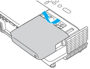 Epson-PowerLite-77C-projector-remove-cover-Epson-ELPLP41-lamp