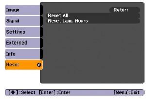 Epson-PowerLite-S5-reset-lamp-timer-Epson-ELPLP41-lamp