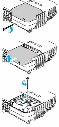Epson_EB-826W_Epson_ELPLP50_remove_projector_lamp_cover