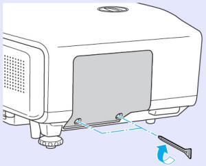Epson_EB-G5200W_reinstall_lamp_cover_epson_ELPLP46