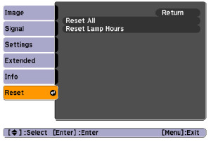 Epson_EB-W9_projector_Epson_ELPLP58_reset_projector_lamp_timer