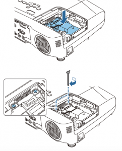 Epson_EB945_projector_lamp-Epson ELPLP78_install new