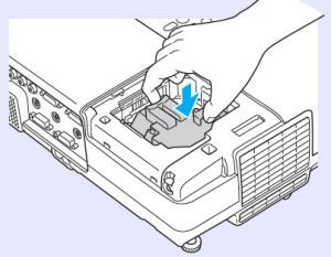 Epson-EB-400We-install-new-lamp-Epson-ELPLP42-lamp