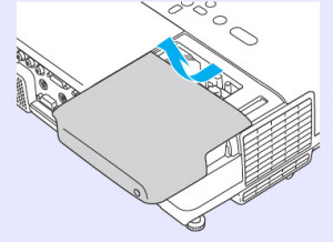 Epson-EB-400We-remove_cover-Epson-ELPLP42-lamp