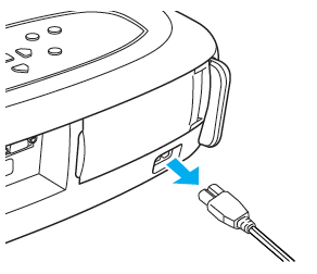 Epson_EMP-S1_remove_power_cord_Epson_ELPLP_25_lamp