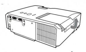 Hitachi_CP-X2510_projector_lamp_Hitachi_DT01021_remove_cover