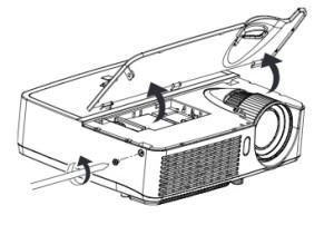 Infocus_IN2124_projector_remove_Infocus_SP-LAMP-070