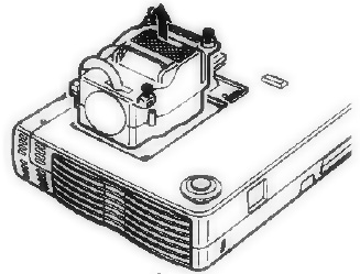 Knoll_HT201_projector_remove_Knoll_28-631 lamp