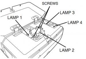 Sanyo PLC-XF40 Lamp Assembly, Sanyo POA-LMP42 610 292 4831