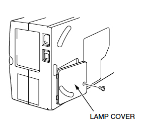 Sanyo PLC-XP10 Lamp Cover, Sanyo POA-LMP18 (service parts no 610 279 5417)