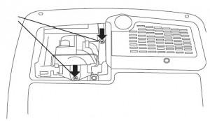 ASK Proxima C160/C180 lamp cage, ASK Proxima SP-LAMP-017