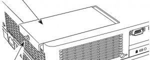 Sanyo PLC-XW200/ PLC-XW250 Lamp Cover, Sanyo POA-LMP132 (service parts no 610 345 2456)