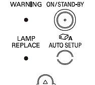 Lamp Replacement Indicator POA-LMP132, Sanyo POA-LMP132 (service parts no 610 345 2456)