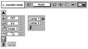 Sanyo PLC-XF35/F35NL/PLC-XF35N Lamp Reset Screen