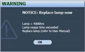 BenQ SP830 final lamp warning, BenQ 5J.J1Y01.001 lamp