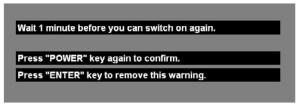 Lamp_warning_Optoma_EP7477_projector