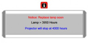 BenQ MP721c  Warning message 2, BenQ BenQ 5J.J2C01.001 lamp
