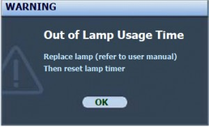 BenQ MP522 final lamp warning message, BenQ 9E.Y1301.001 lamp