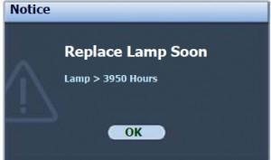 BenQ MP522 second lamp warning message, BenQ 9E.Y1301.001 lamp