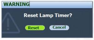 BenQ MP770 lamp reset option, BenQ 5J.J1S01.001 lamp