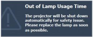 BenQ MP770 final warning message, BenQ 5J.J1S01.001 lamp